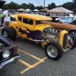 Yellow Hot Rod with Flames